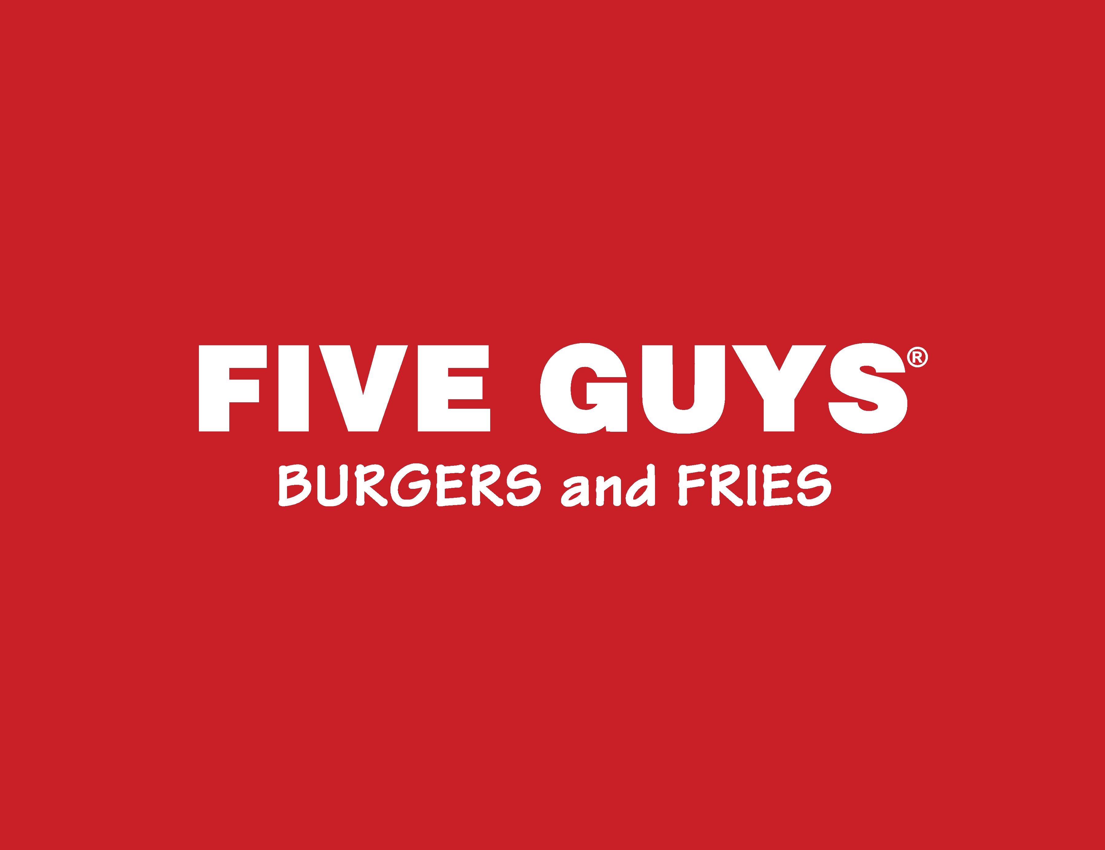 Five guys logo logotype burgers and fries